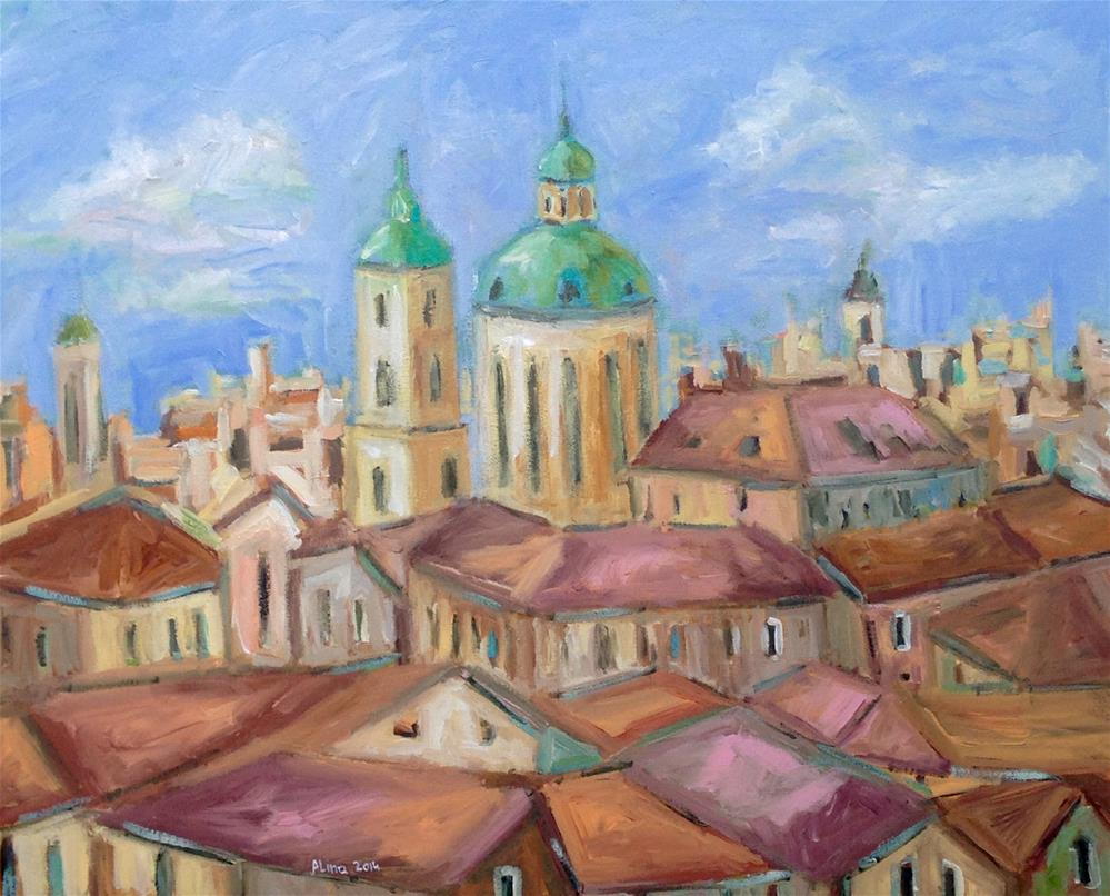 """Winter Day in Prague"" original fine art by Alina Vidulescu"