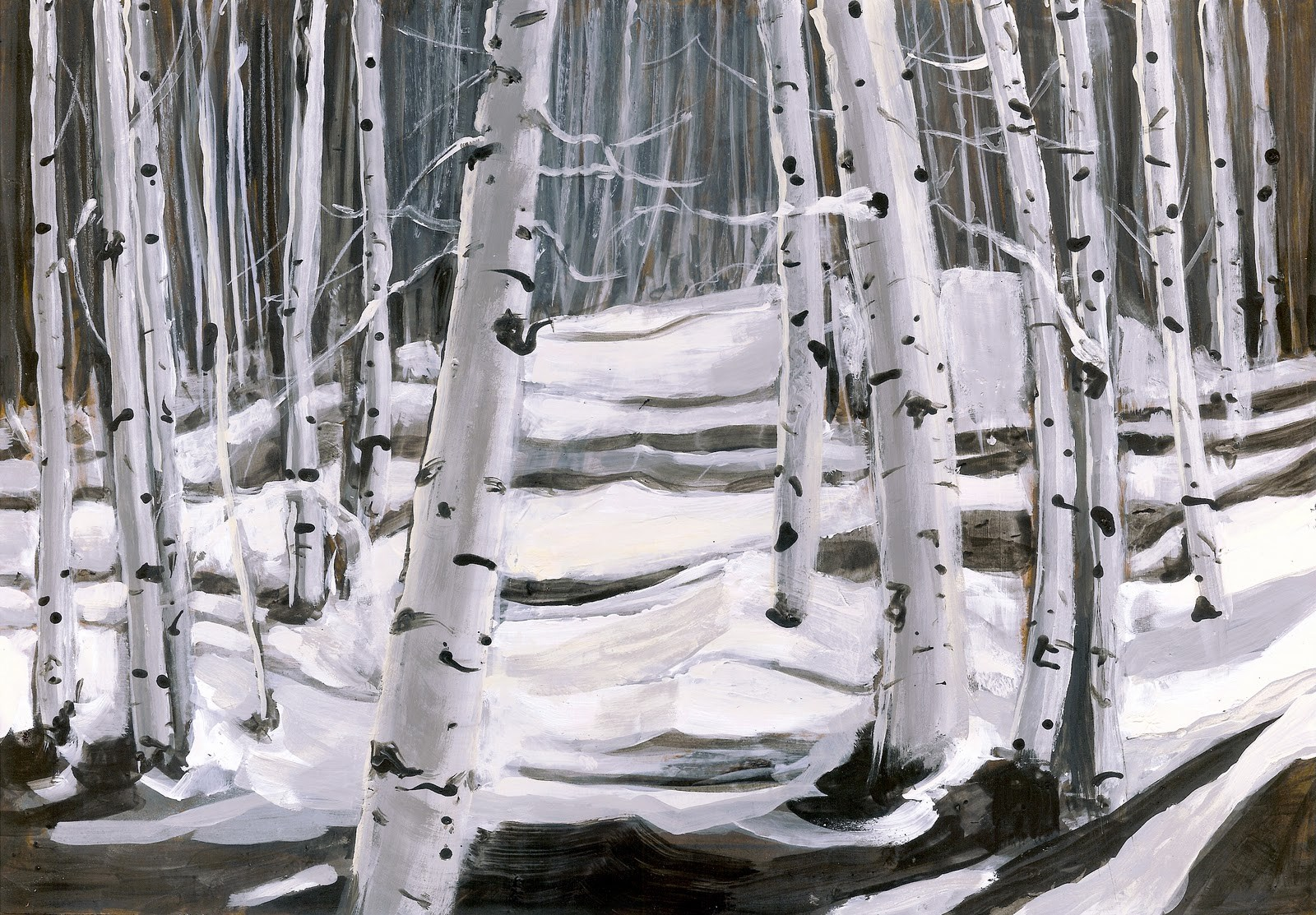 """Aspen Forest"" original fine art by Reveille Kennedy"
