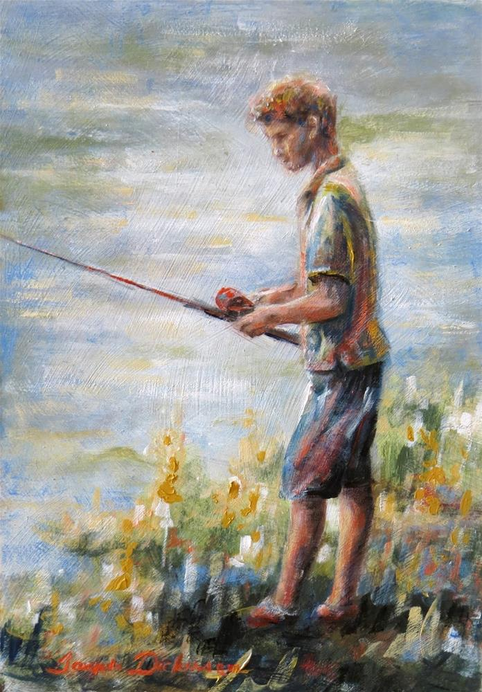 """Fishing"" original fine art by Tammie Dickerson"