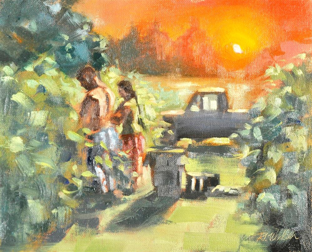 """Grape Harvest At McEachran"" original fine art by Rl Weber"