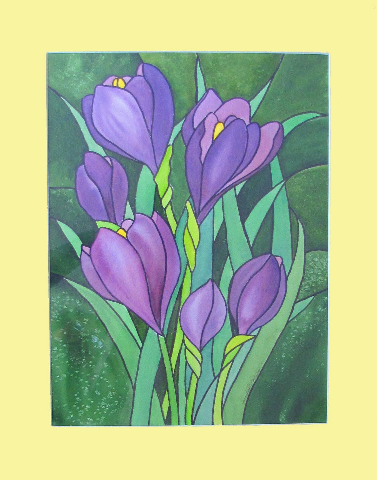 """Purple Flowers"" original fine art by Michelle Wolfe"