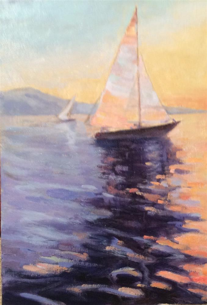 """Sailing"" original fine art by Leigh Alexandra Sparks"