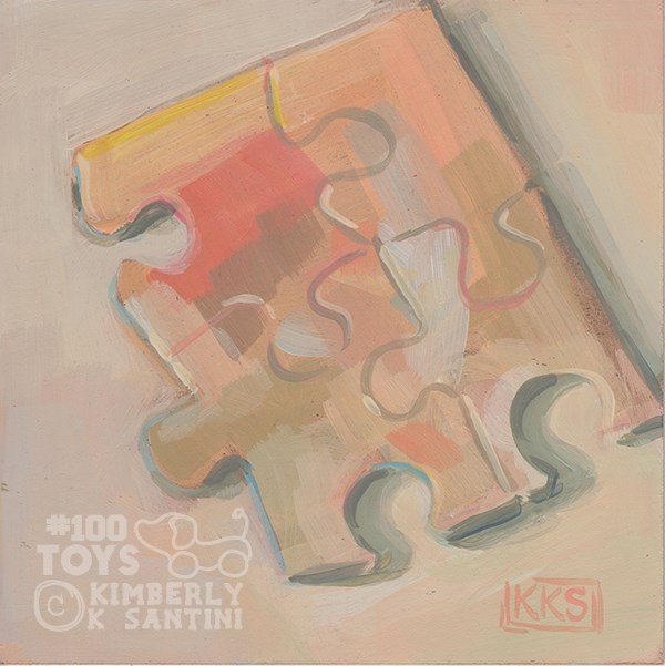 """Puzzle II"" original fine art by Kimberly Santini"
