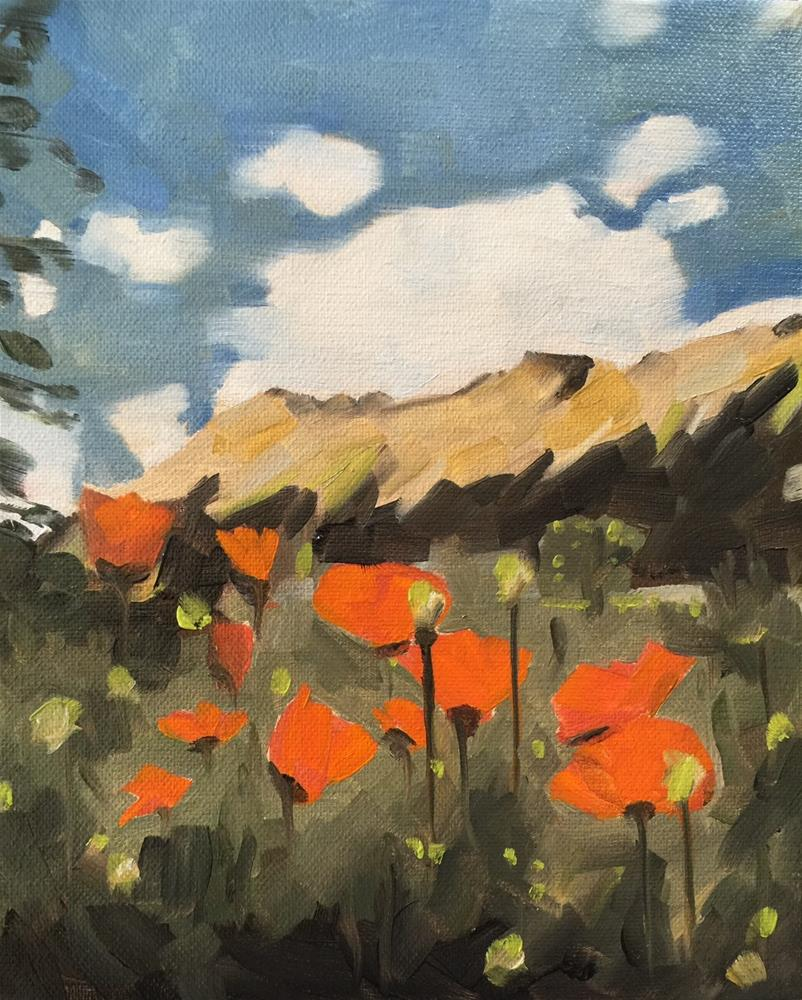 """290 Poppies on Purpose"" original fine art by Jenny Doh"