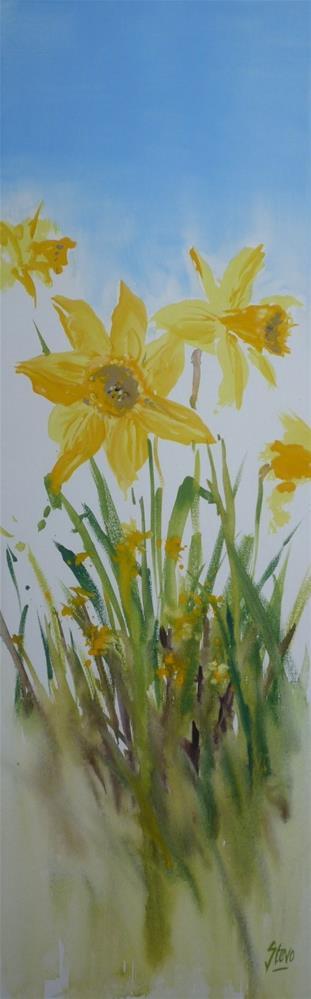 """Springtime in Bulgaria"" original fine art by Martin Stephenson"