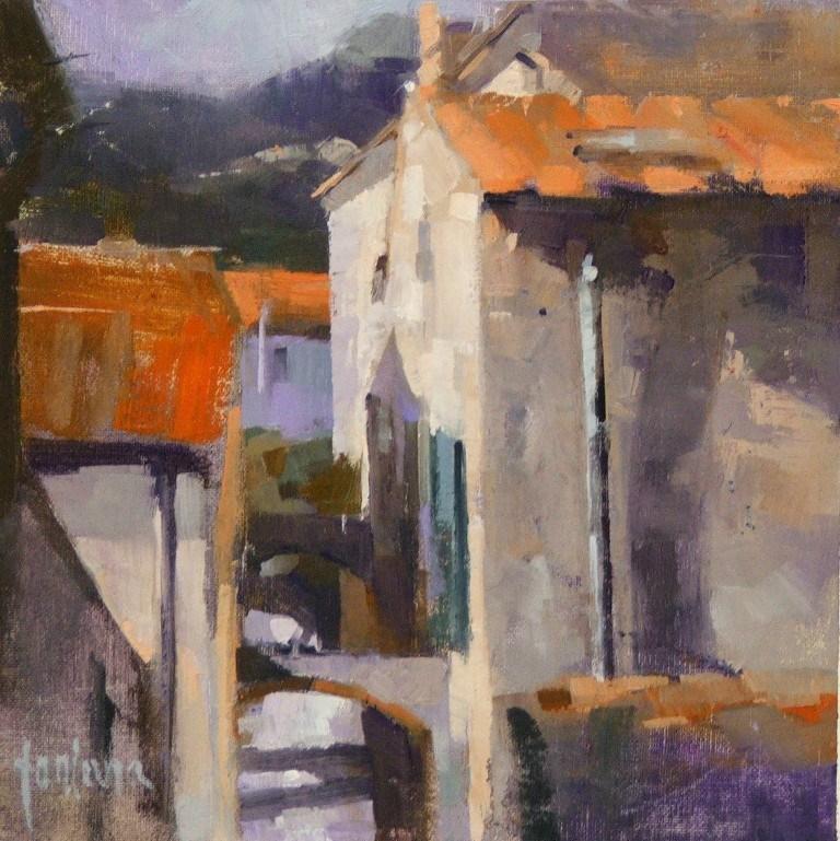 """""""Alley in Elba (La Gretta)"""" original fine art by Francesco Fontana"""