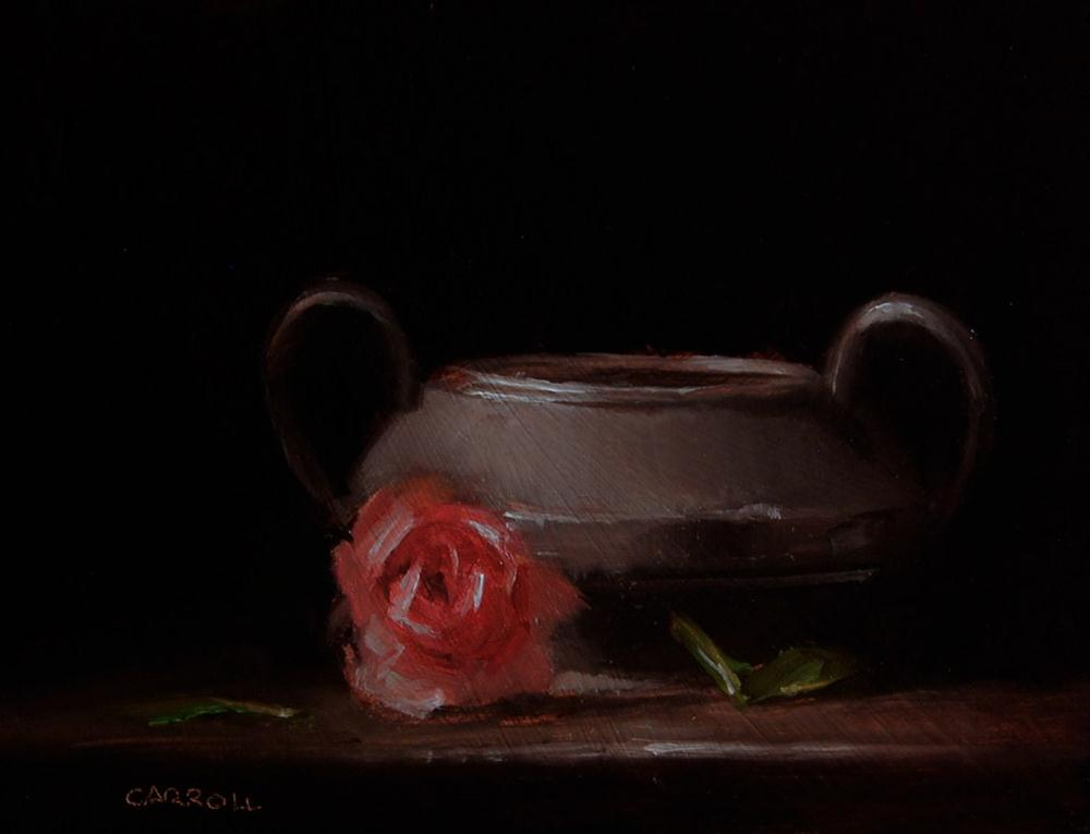 """Pewter Sugar Bowl"" original fine art by Neil Carroll"