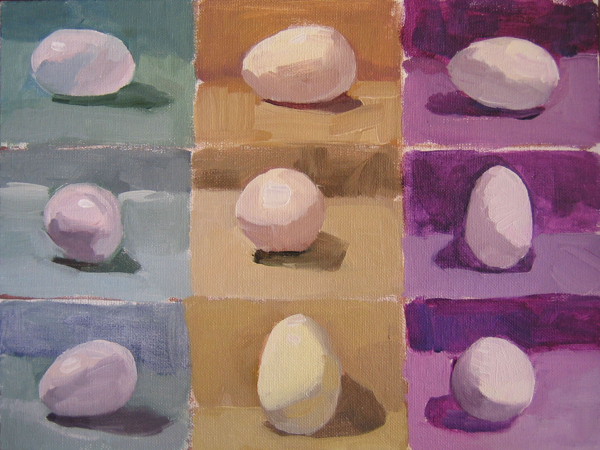 """Eggs"" original fine art by Kaethe Bealer"