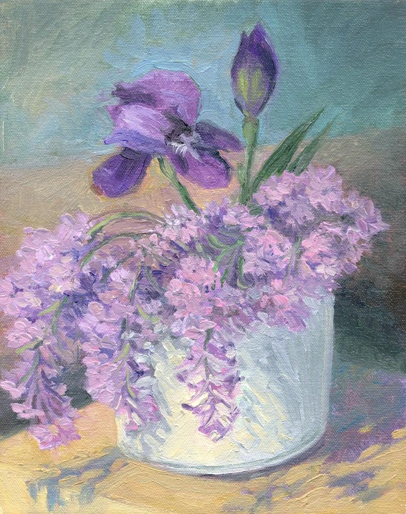 """Lilacs"" original fine art by Kath Reilly"