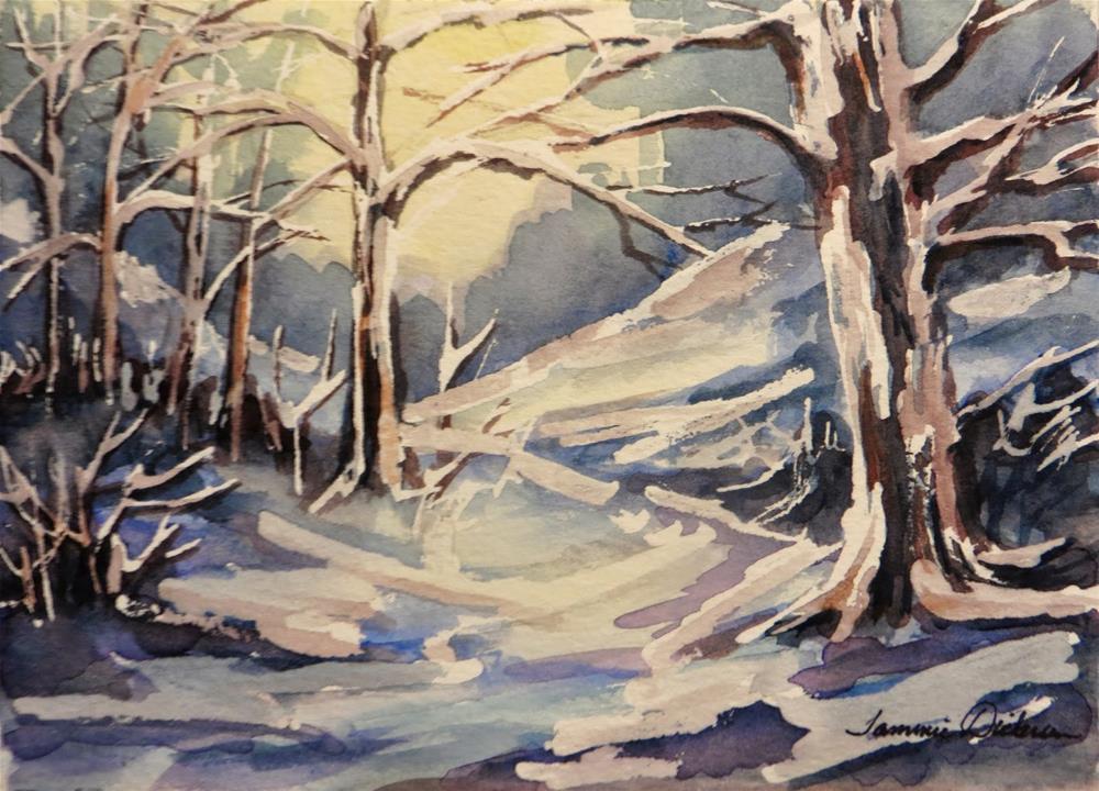 """Winter Snow"" original fine art by Tammie Dickerson"
