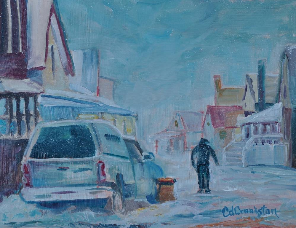 """Bone Chilling Winter"" original fine art by Catherine Crookston"