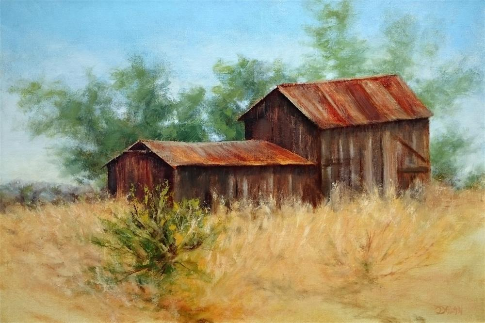 """""""Old Sonoma Farm"""" original fine art by Dalan Wells"""