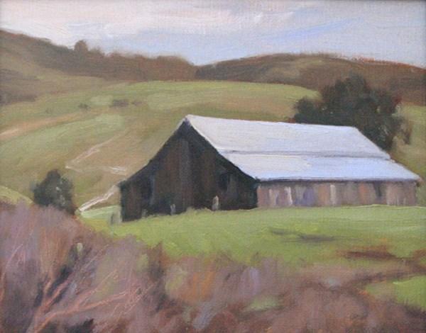 """San Gregorio Barn"" original fine art by Edwin Bertolet"