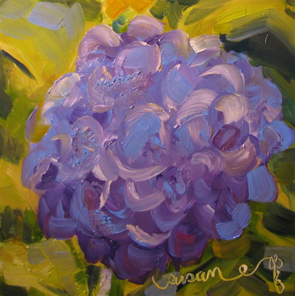 """Hydrangea Down the Street"" original fine art by Susan Elizabeth Jones"