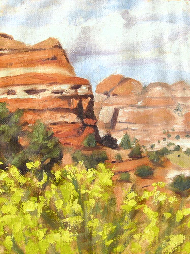 """""""Red Rock Country"""" original fine art by Kaia Thomas"""