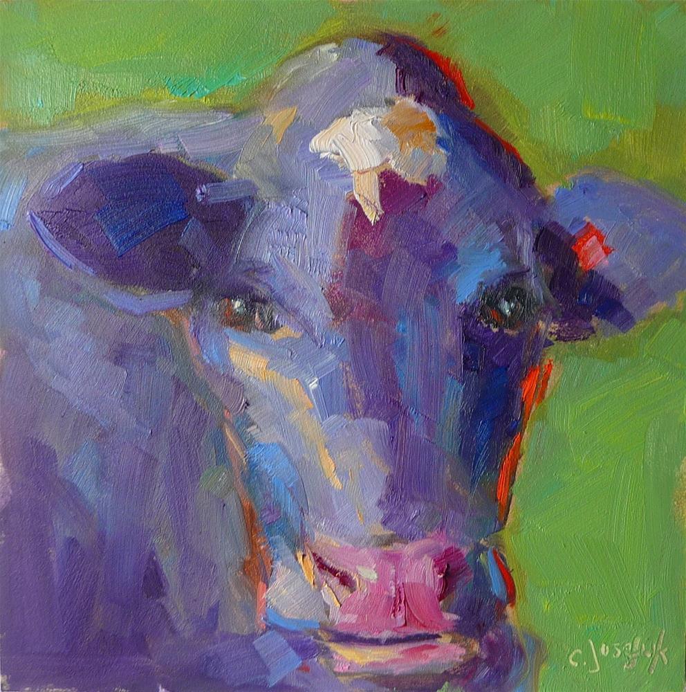 """Purple Cow"" original fine art by Carol Josefiak"