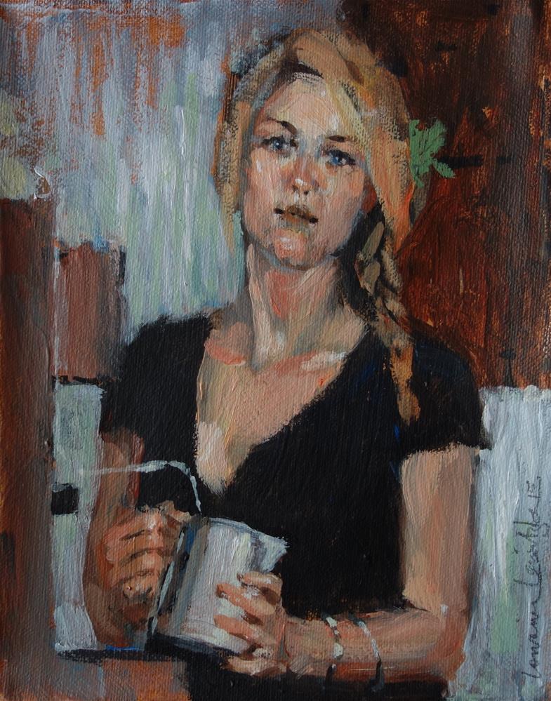 """Cappucino"" original fine art by Lorraine Lewitzka"