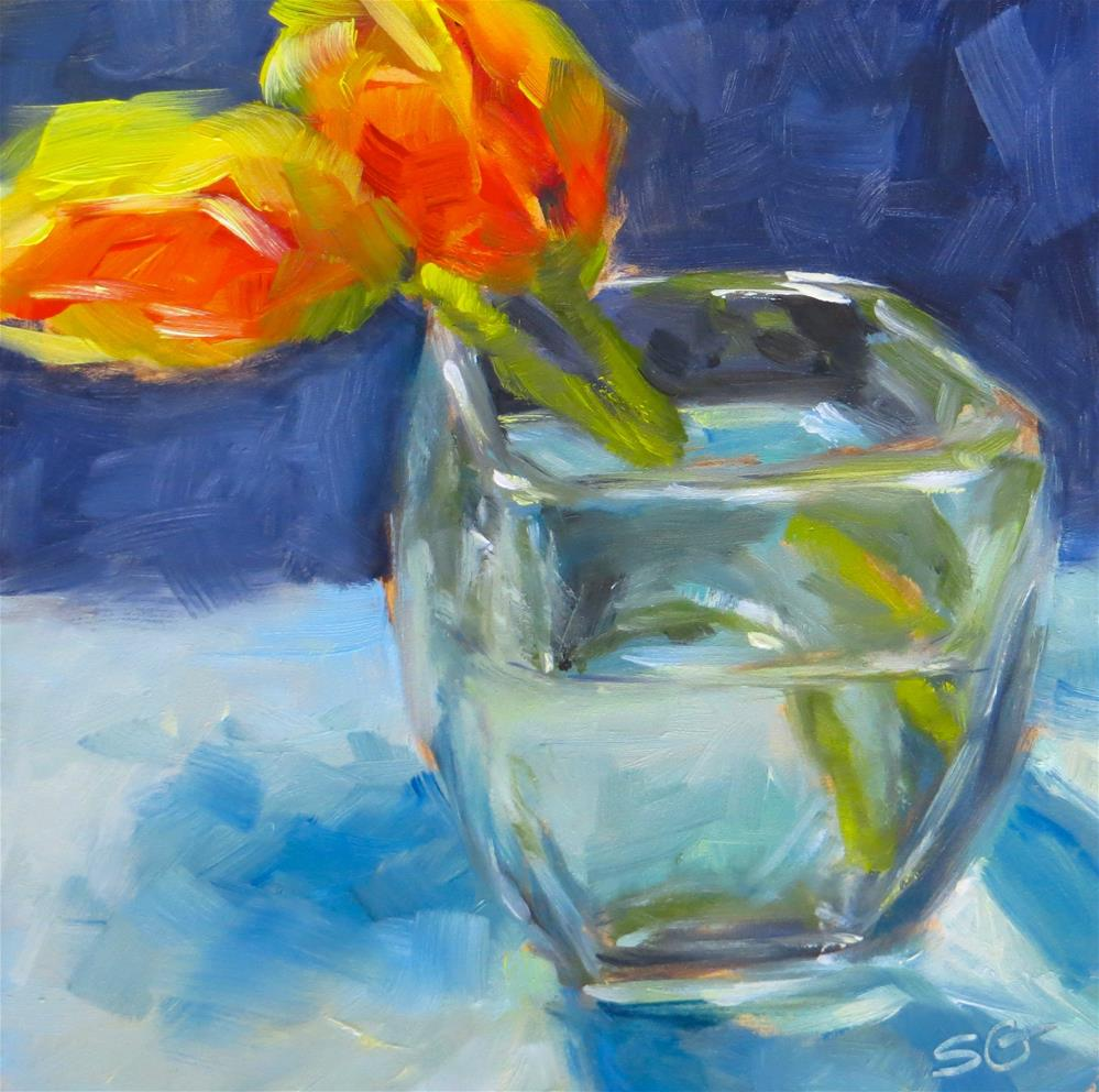 """2 Tulips"" original fine art by Susan Galick"