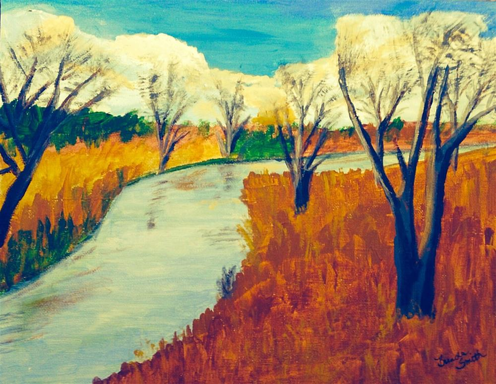 """The Little Creek"" original fine art by Brenda Smith"