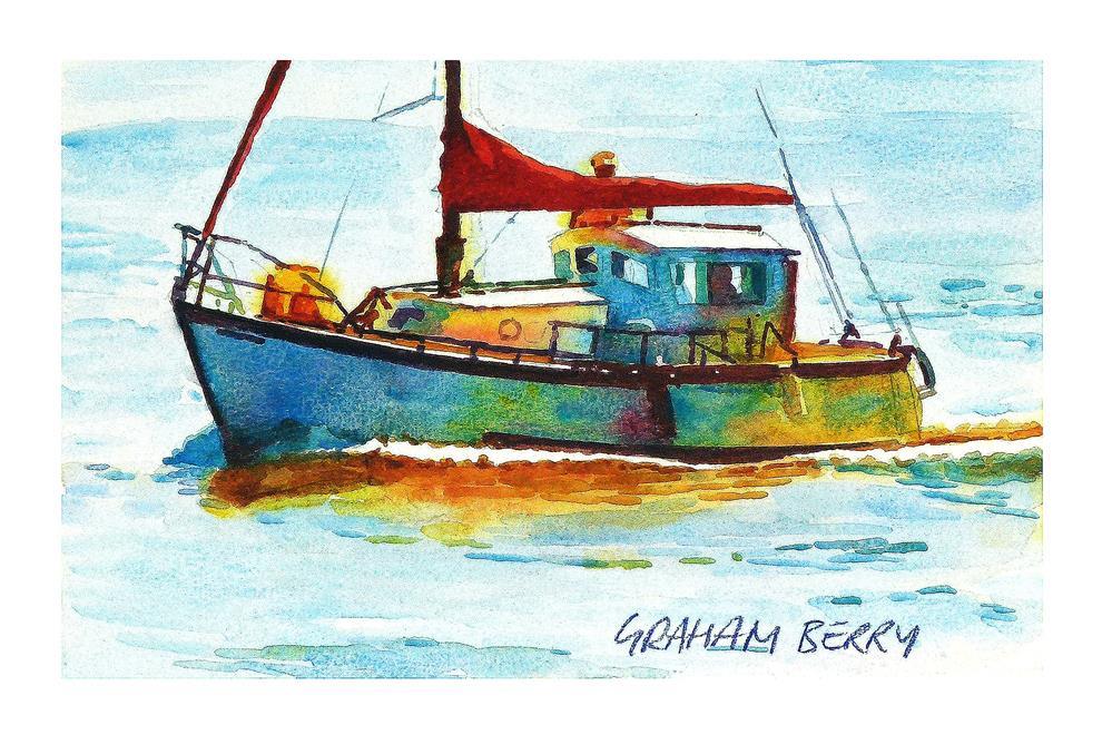 """Leaving port."" original fine art by Graham Berry"