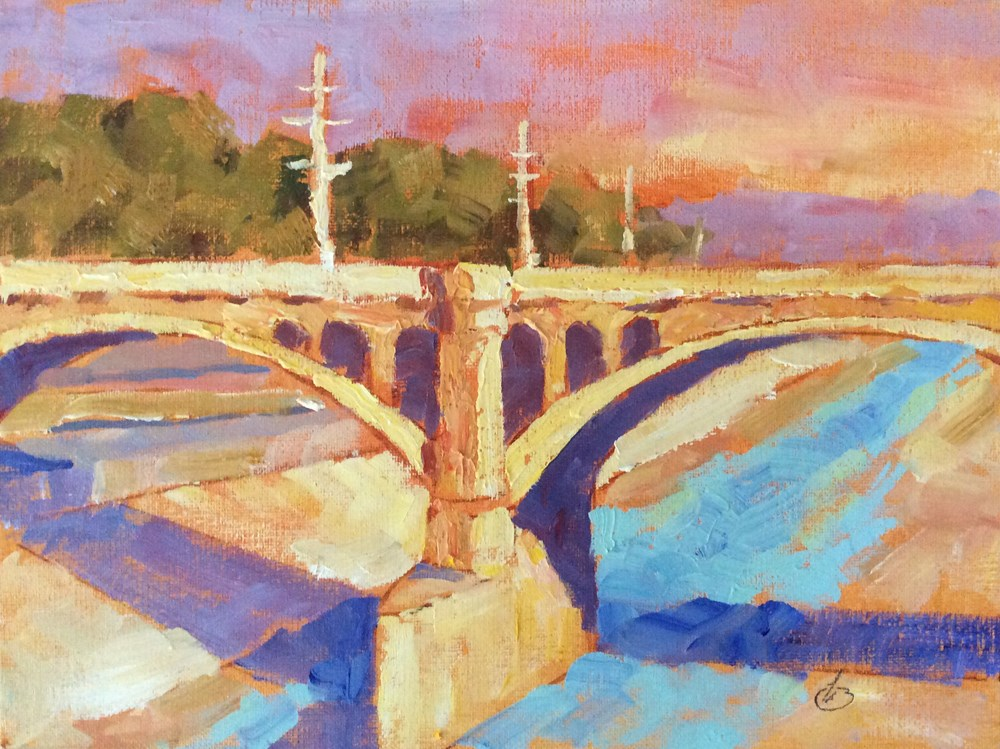 """L. A. RIVER"" original fine art by Tom Brown"