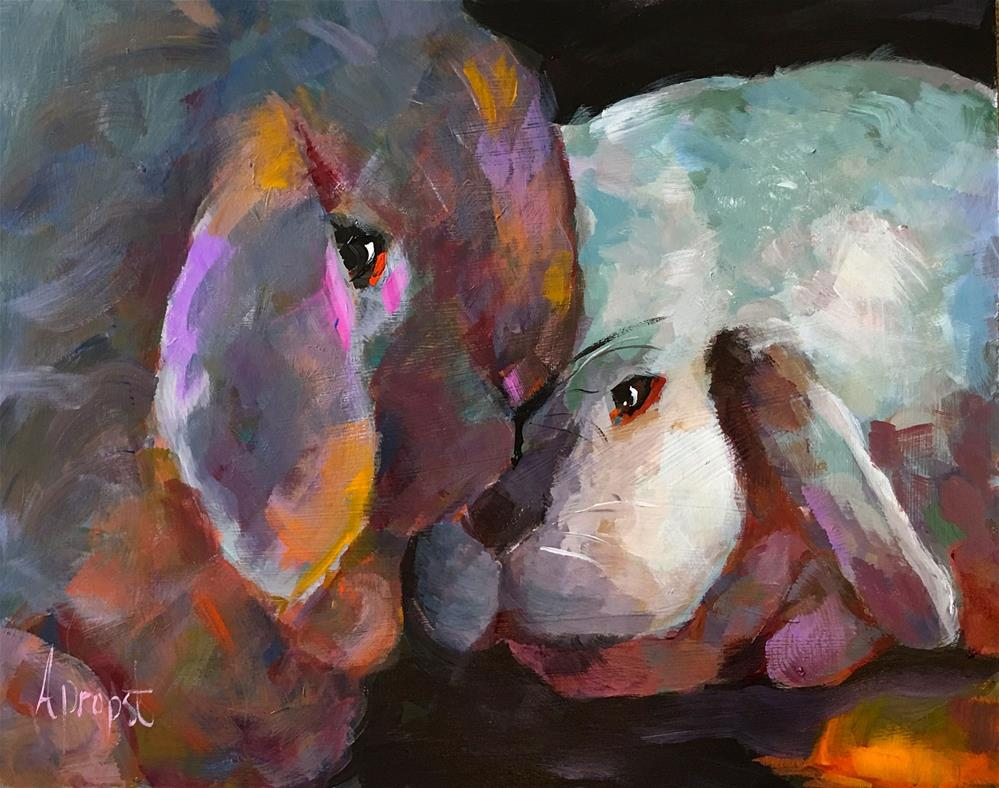 """Happy Easter"" original fine art by Anne Marie Propst"