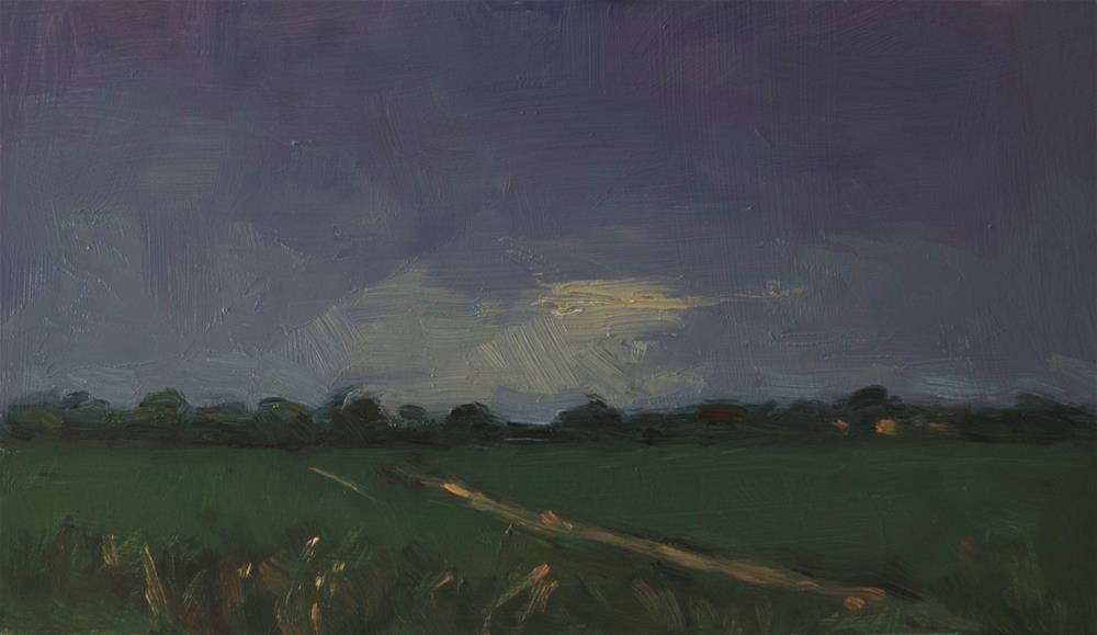 """Field at Goring"" original fine art by Andre Pallat"