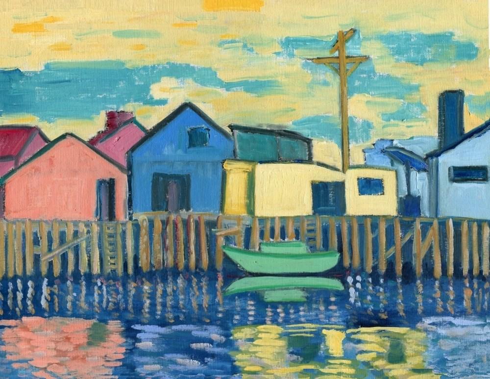 """Wharf"" original fine art by Stanley Epperson"