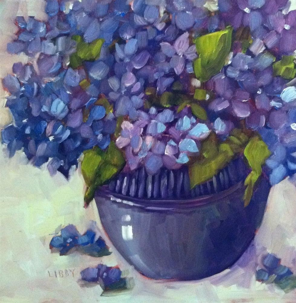 """Blues on Monday"" original fine art by Libby Anderson"