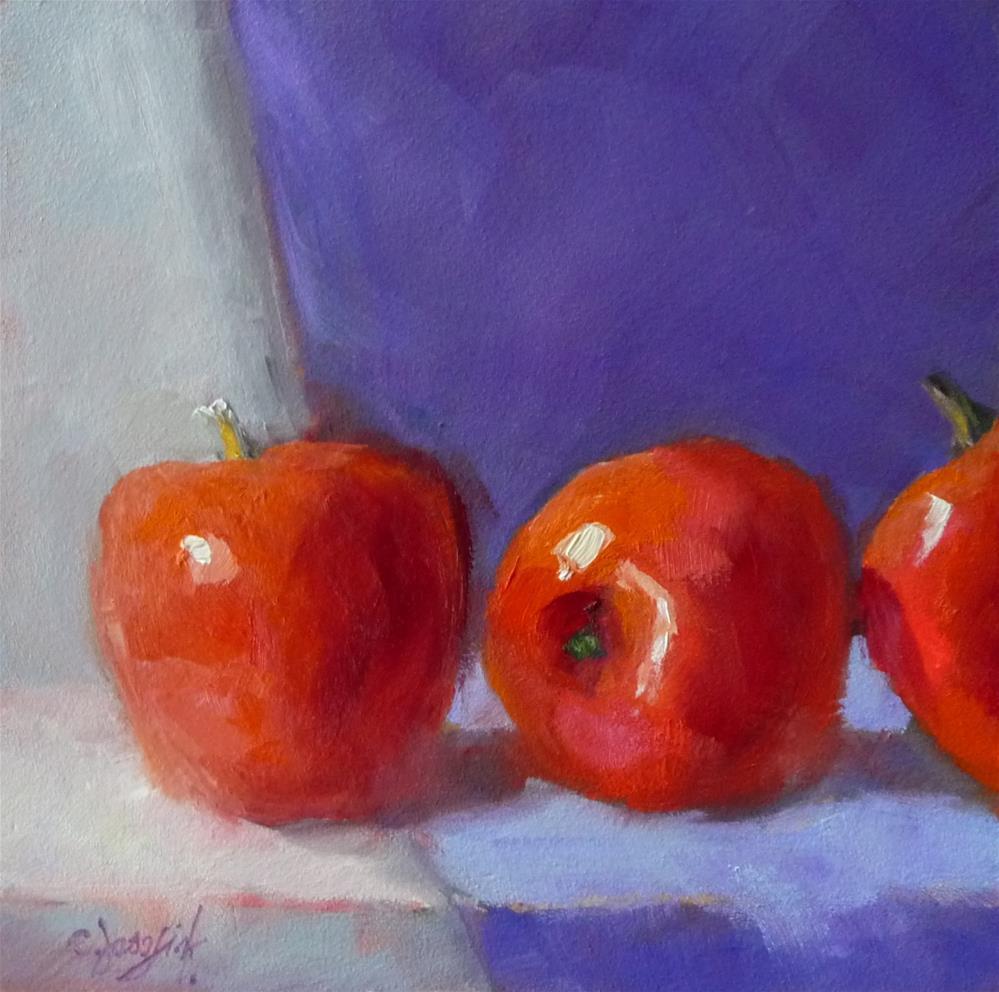 """Purple and Red"" original fine art by Carol Josefiak"