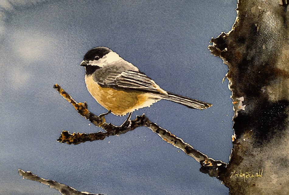 """C is for Chickadee"" original fine art by Andy Sewell"