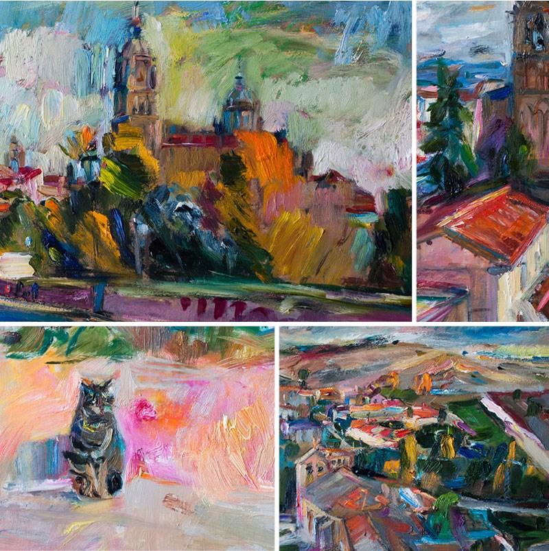 """""""Spanish Cityscapes"""" original fine art by Anna  Fine Art"""