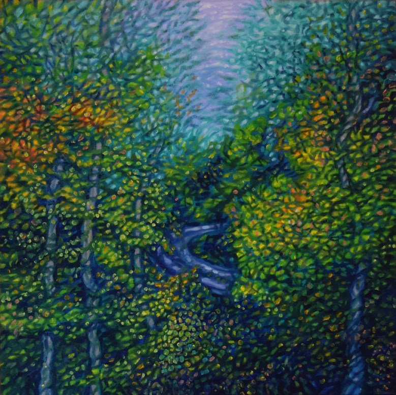 """Fall Drive"" original fine art by Lori Fredricks"