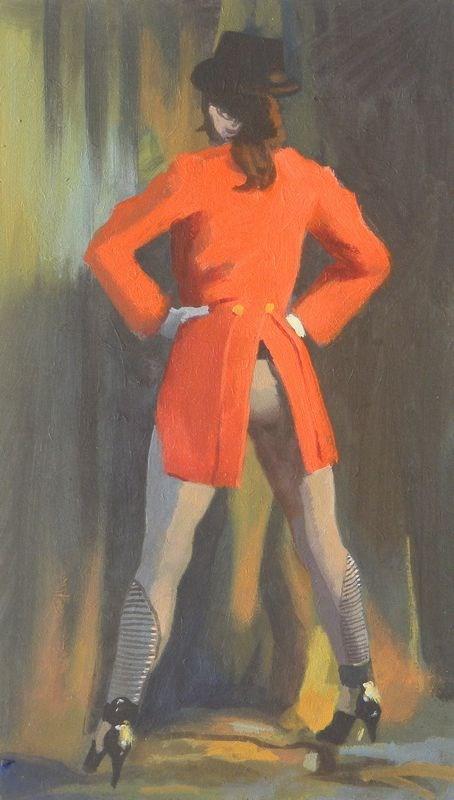 """Red Coat"" original fine art by Peter Orrock"