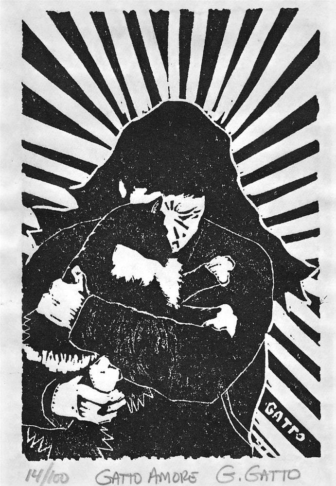 """""""GATTO AMORE"""" original fine art by Gillyin Gatto"""