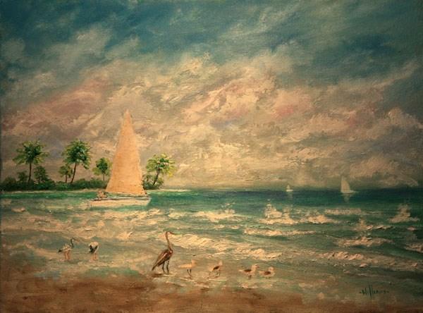 """Cruisin' The Tropics"" original fine art by Sunny Williams"
