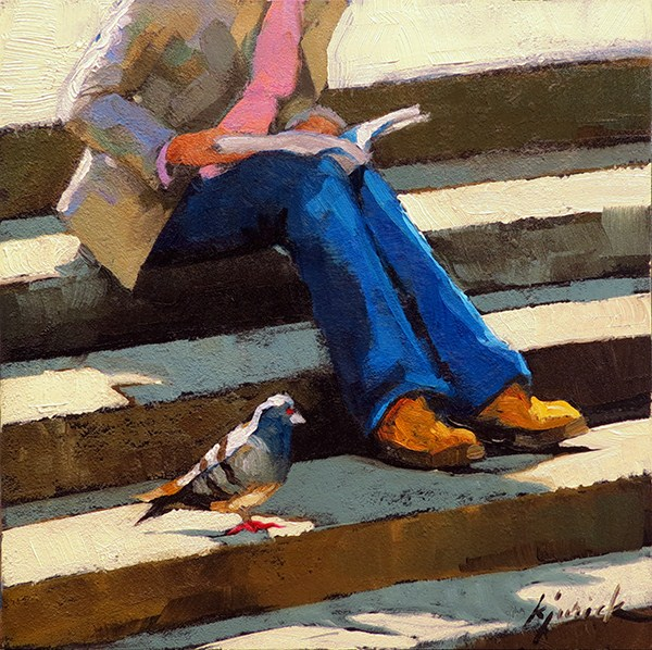 """Book Club"" original fine art by Karin Jurick"