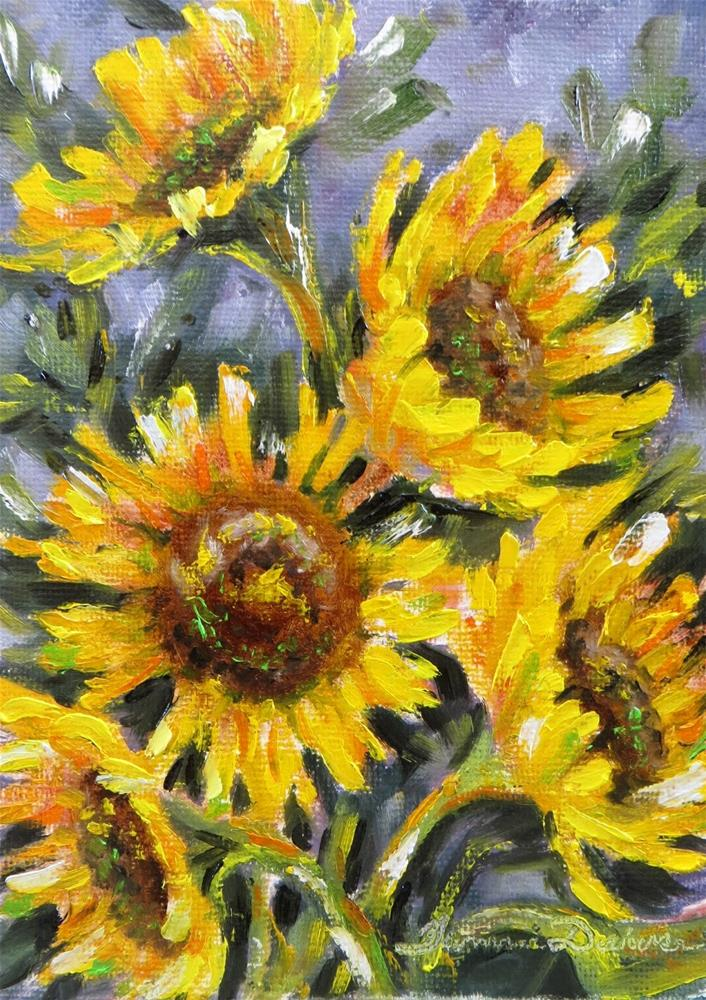 """Sunflowers of Summer"" original fine art by Tammie Dickerson"