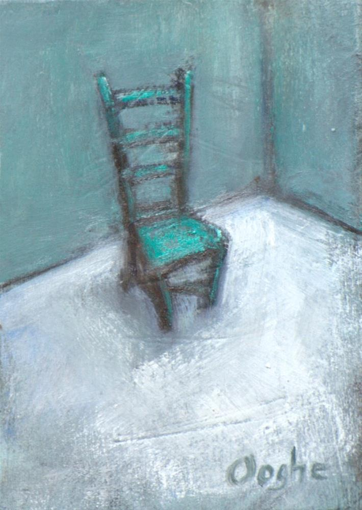 """Lonely Chair ACEO"" original fine art by Angela Ooghe"