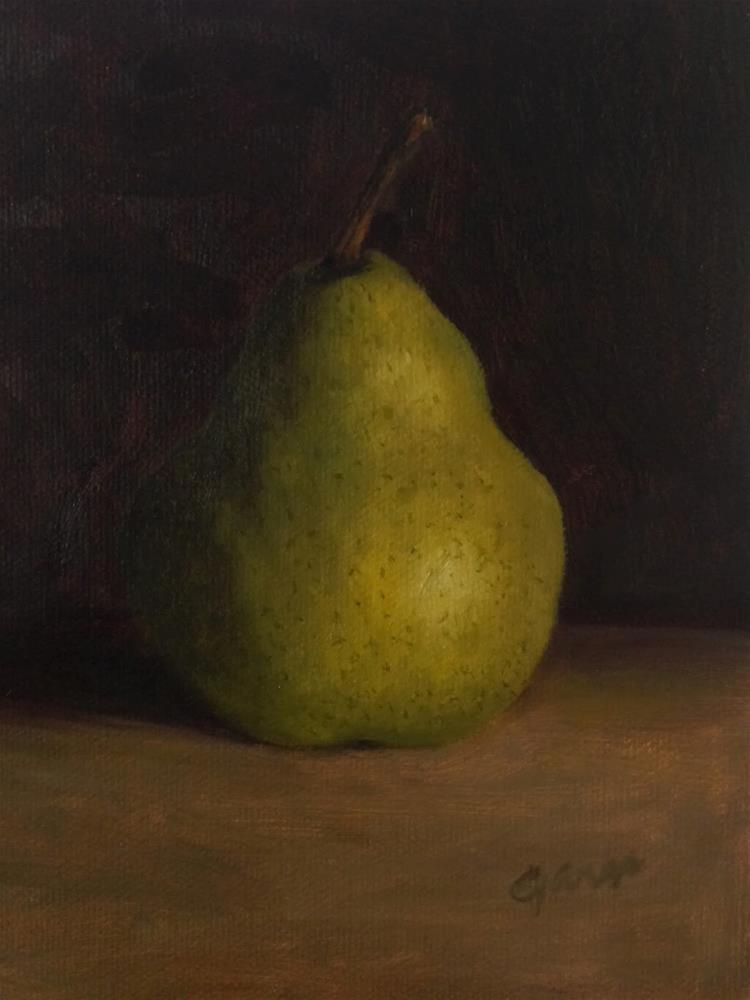 """Green Pear"" original fine art by Michelle Garro"