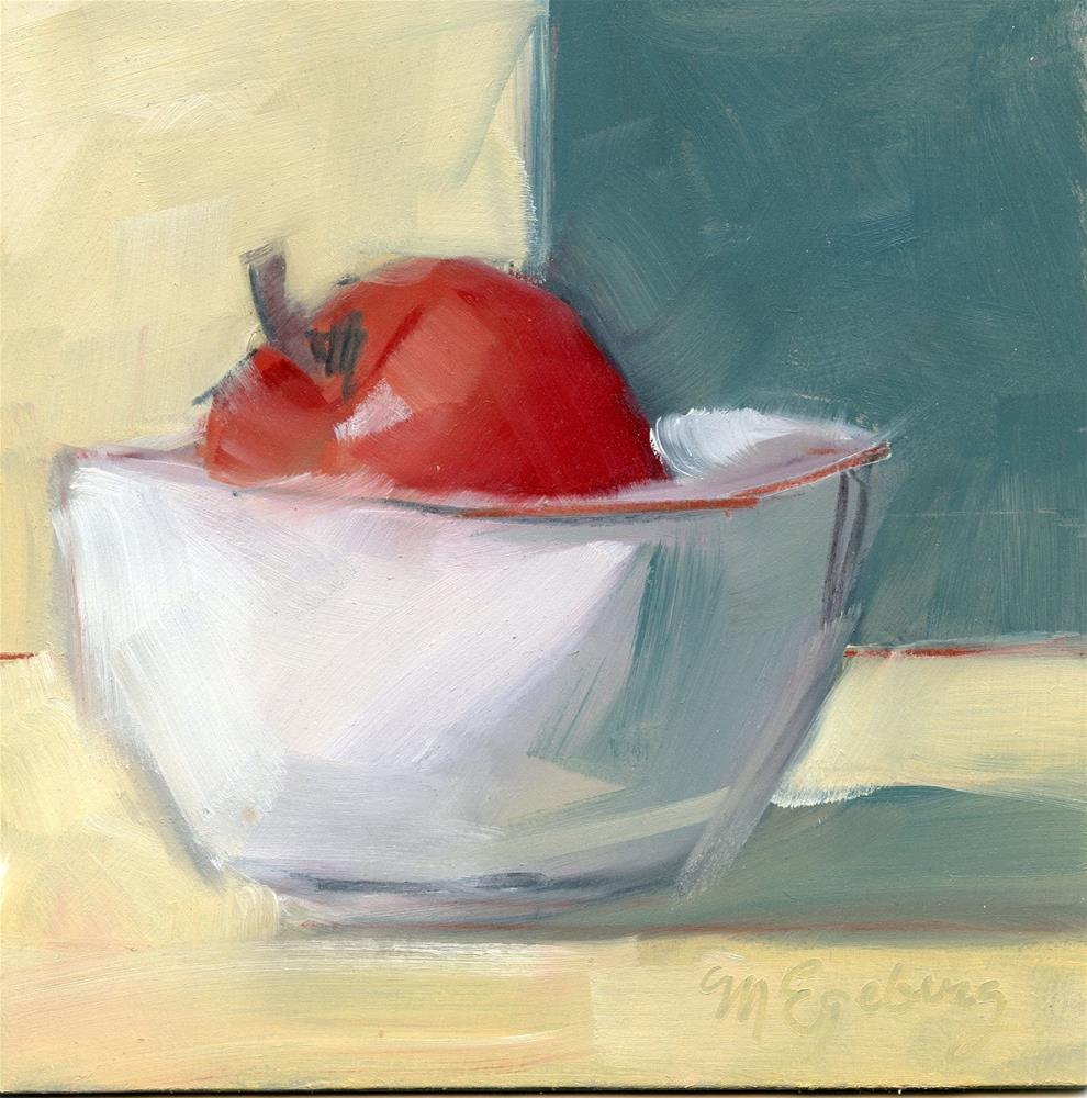 """Sunlit Apple"" original fine art by Mitch Egeberg"