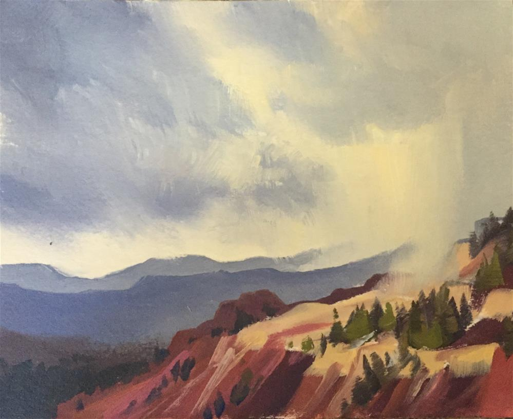 """Storms Over Cedar Breaks 4"" original fine art by Mary Jabens"