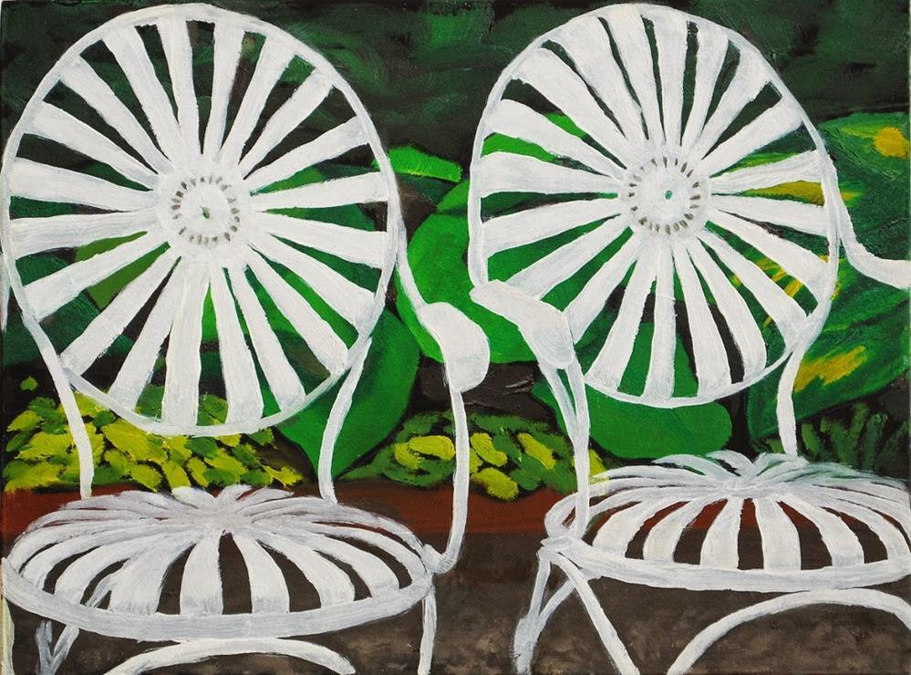 """""""Antique Deck Chairs"""" original fine art by Gary Westlake"""