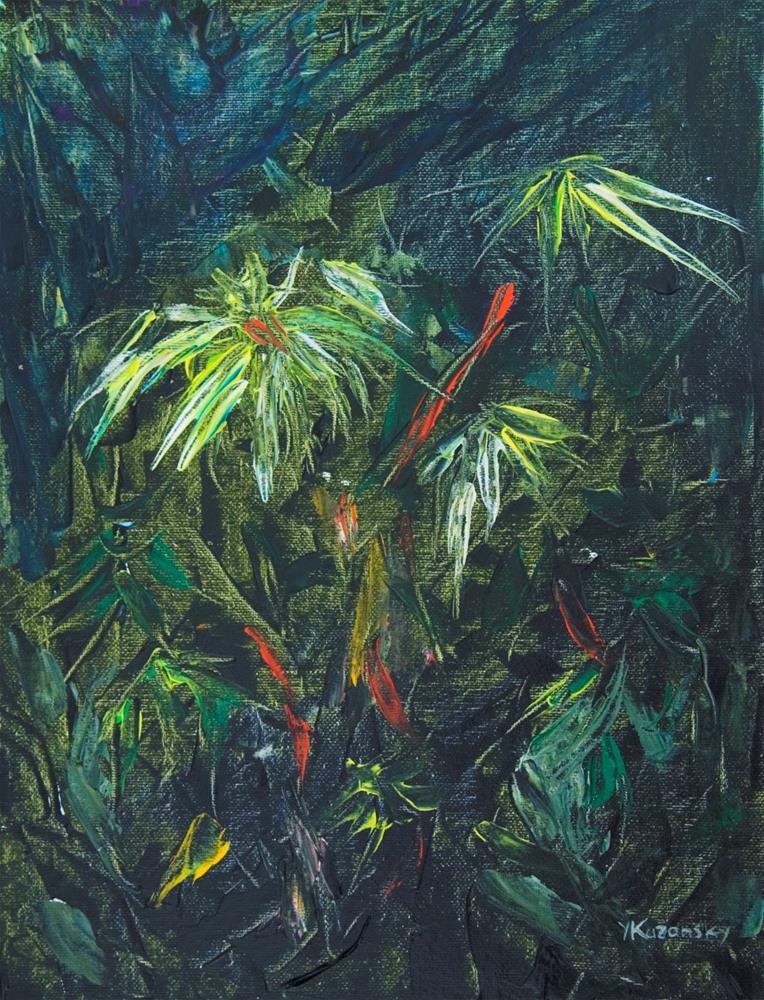 """Deep in the Jungle"" original fine art by Yulia Kazansky"