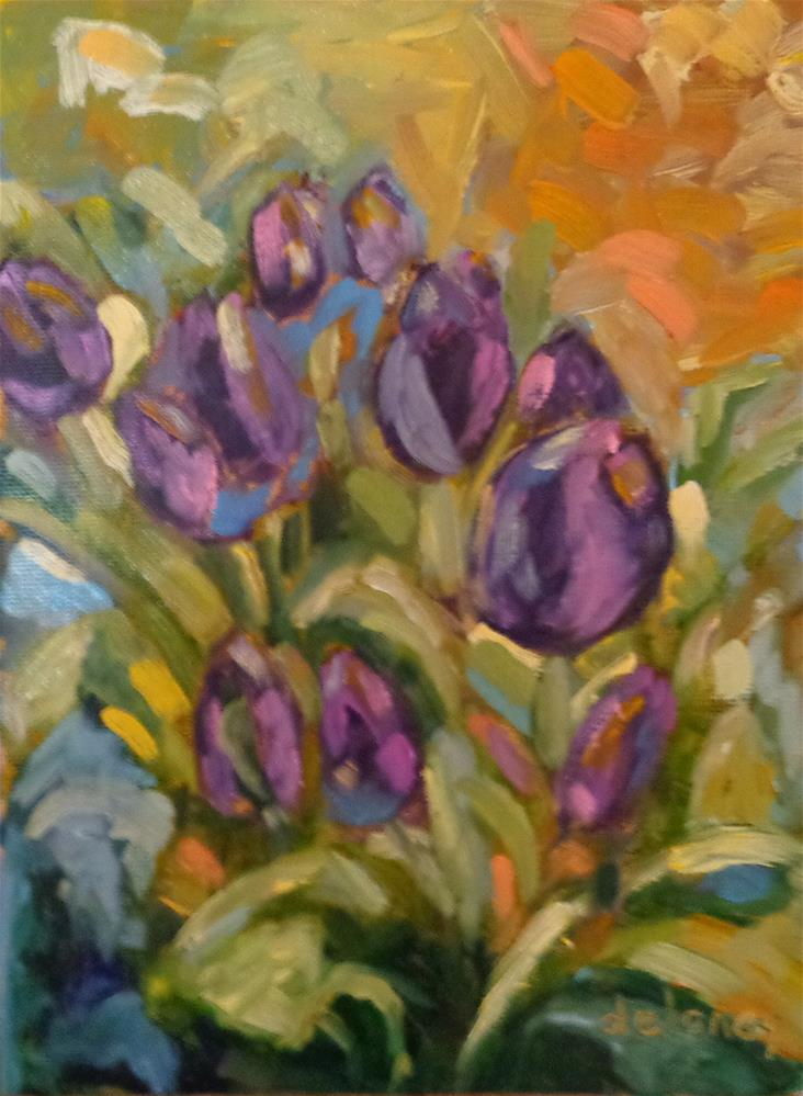 """The tulip dance"" original fine art by Jean Delaney"