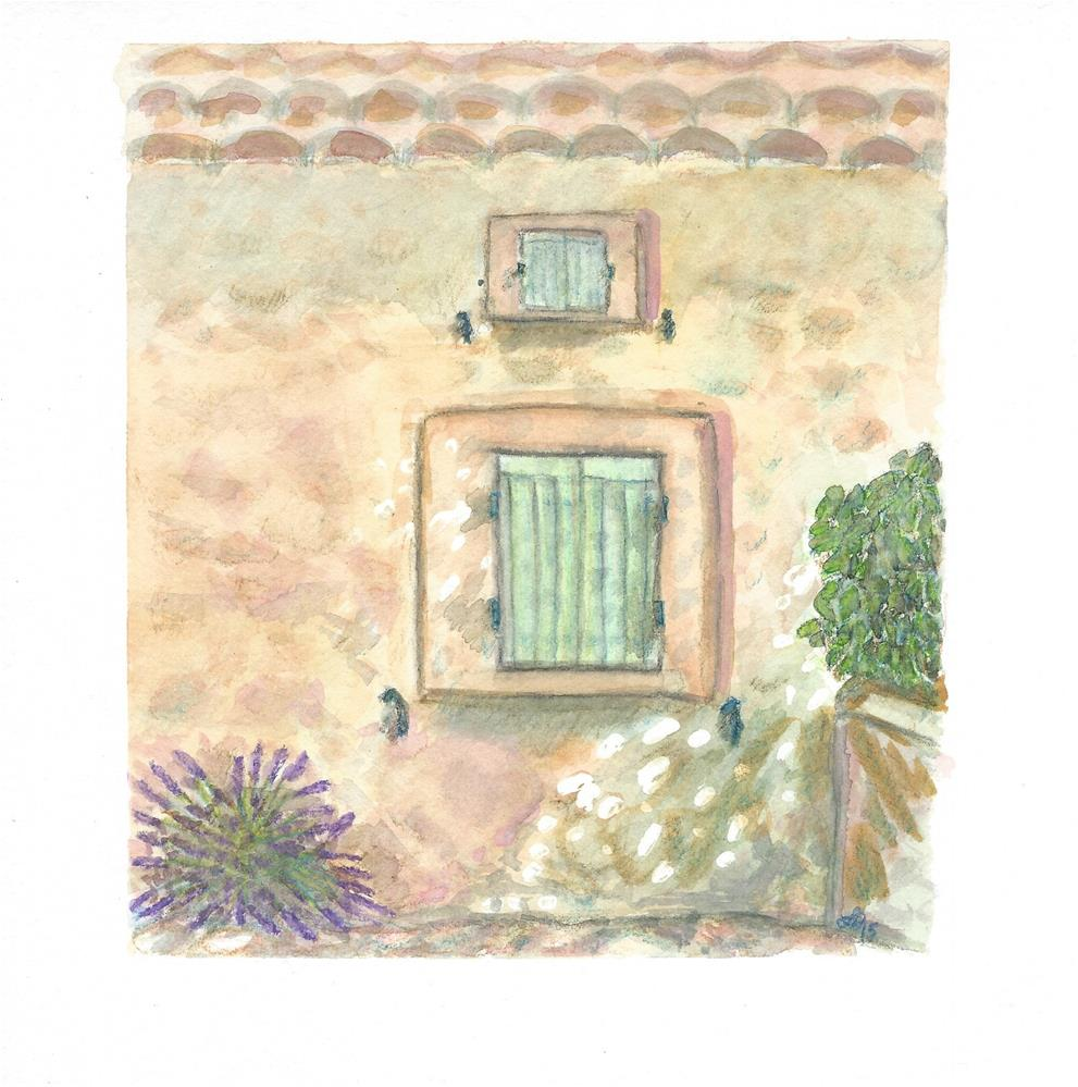 """Window to Provence, France"" original fine art by Laura Denning"