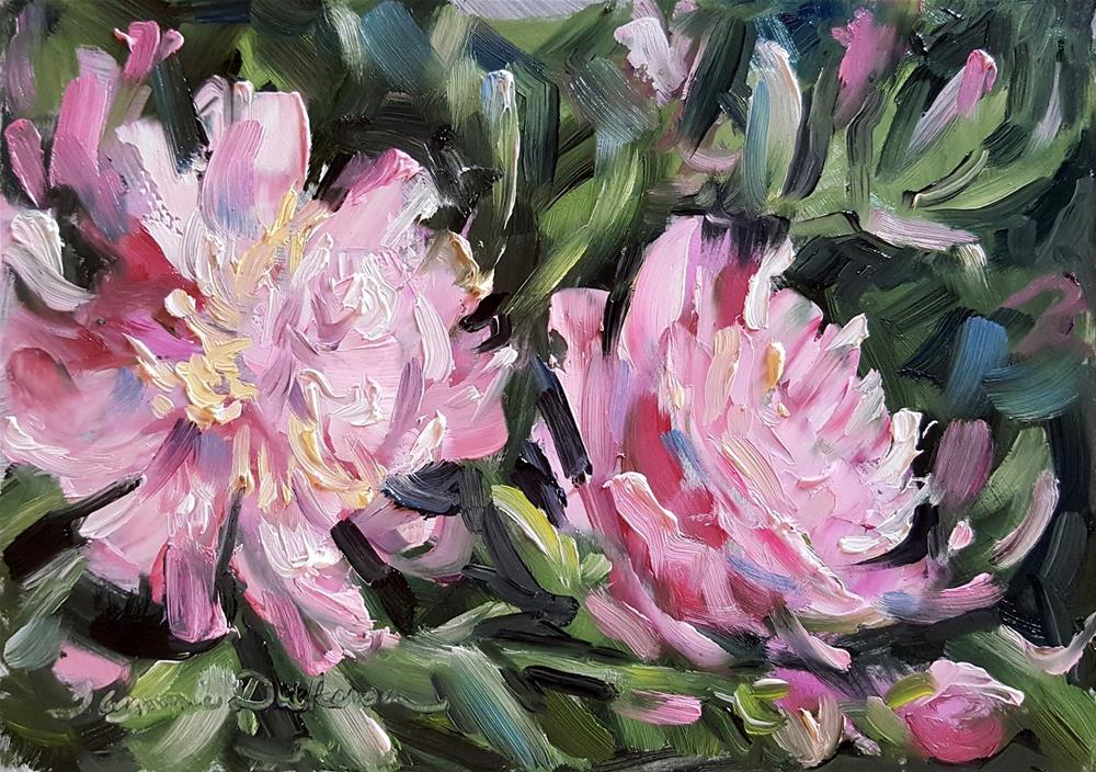 """First Peonies"" original fine art by Tammie Dickerson"