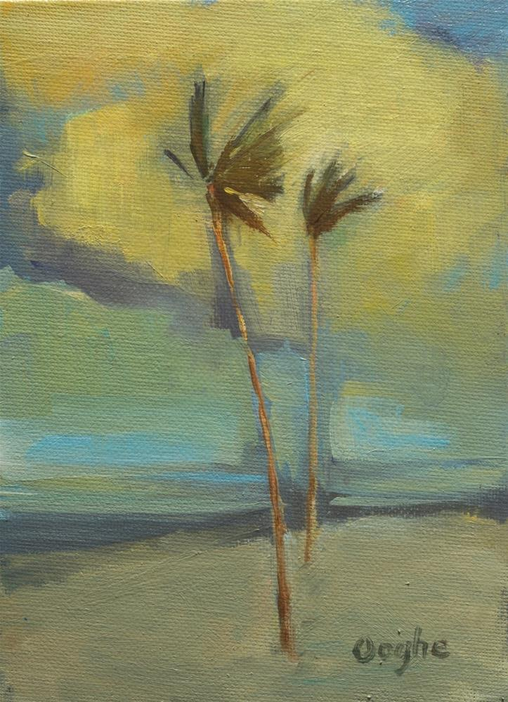 """Palms"" original fine art by Angela Ooghe"
