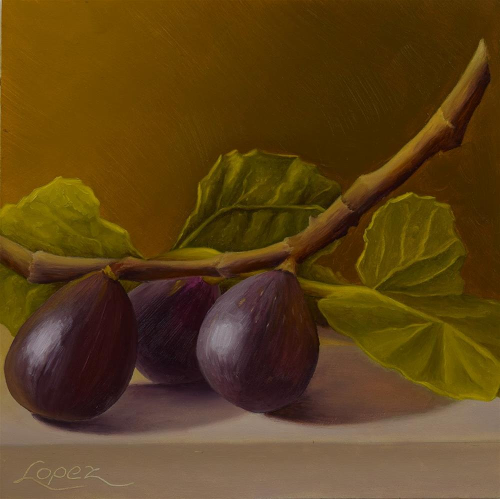 """26. Figs From Walter's Orchard"" original fine art by Gema Lopez"