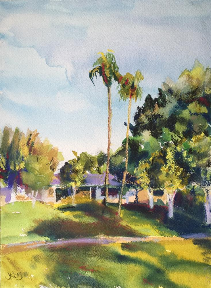 """""""Casitas del Sol"""" original fine art by Jean Krueger"""